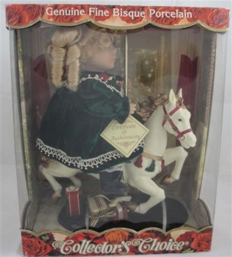 porcelain doll on carousel bisque porcelain doll and carousel