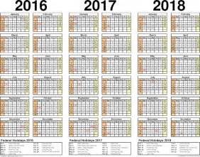 5 Year Calendar 2014 To 2018 2018 Calendar Weekly Calendar Template