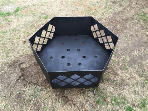hexagon pit designs diy steel pit with cut