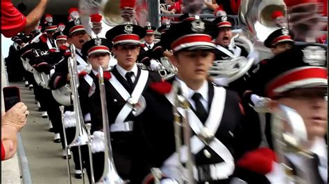 ohio state marching band ramp entrance game  buckeyes