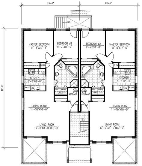 6 plex floor plans six plex multi family home plan 90146pd architectural