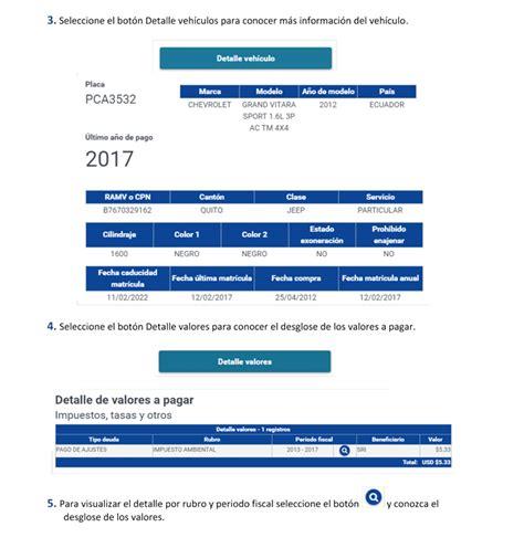 pagar el valor de registro y matricula consulta pago de matr 237 cula vehicular 2018 consulta valor