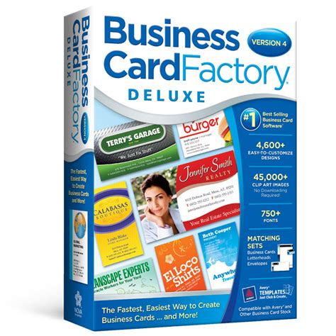 Business Card Factory business card factory deluxe software for business cards