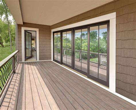 4 Panel Sliding Glass Door Four Panel Sliding Door With Simulated Divided Lite Exterior Marvin Photo
