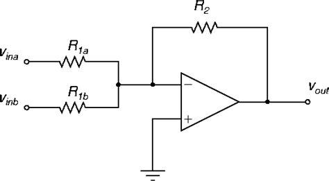 summing with resistors op non inverting summing lifier ripple gain