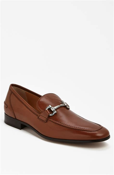 ferragamo loafers ferragamo tapas bit loafer in brown for lyst