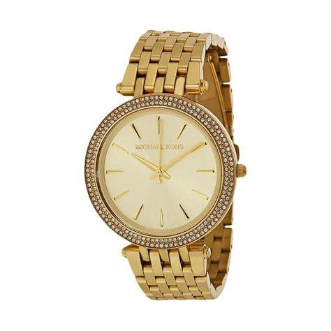 Jam Tangan Mi Chael Kors jual michael kors mk3191 original jam tangan wanita gold