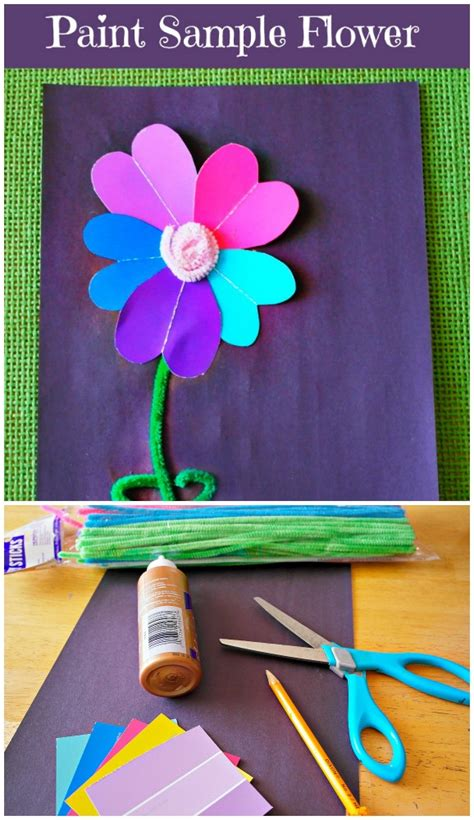 paint sle flower craft in the playroom