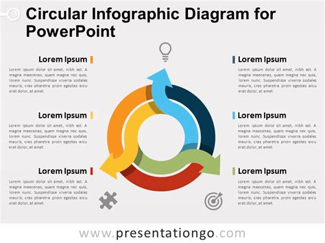 7 step 4 layers circular diagram for powerpoint slidemodel circular infographic diagram for powerpoint