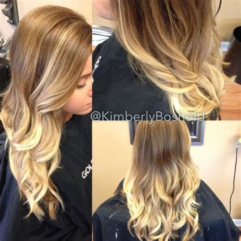 bright red hair dye over the counter solid ombre hairstyle honey base color with balayage