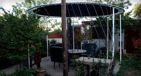 Patio Awning With Legs Top Troline Hacks To Repurpose Into Something New