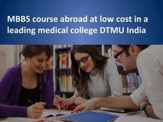 Mba In Abroad Low Cost by Mbbs Course Abroad At Low Cost In A Leading