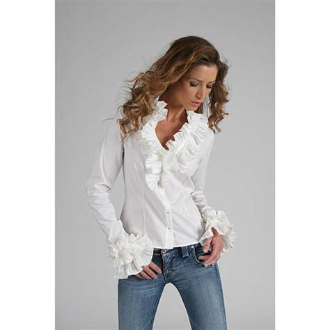 ruffle collar shirt ruffle collar and cuff shirt by the shirt company