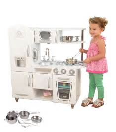 Toy Barns For Toddlers Kidkraft White Vintage Kitchen Kids Pretend Play Set With