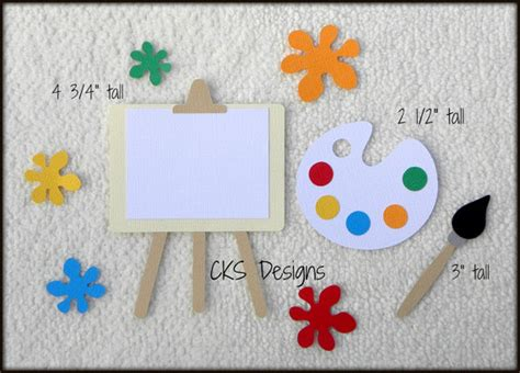 scrapbook layout easel die cut artist easel paint scrapbook page embellishments for
