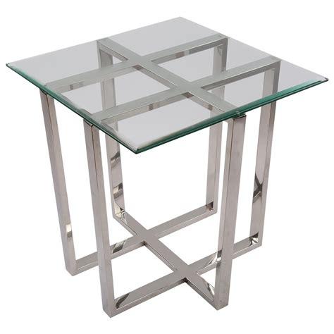 Beistelltisch Glas Metall by Beistelltisch Quadratisch Glas Metall Tisch Glas