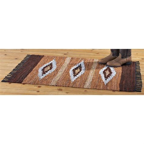 flat weave cotton rugs leather cotton 4x6 chindi flat weave rug striped 167822 rugs at sportsman s guide