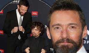 peter dinklage dead or alive hugh jackman and peter dinklage joke around at x men days