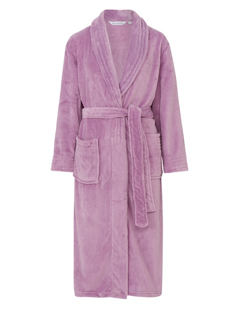 dressing gown dressing gown womens wrap around soft fleecy plain bath
