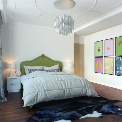 art bedroom modern pop art style apartment