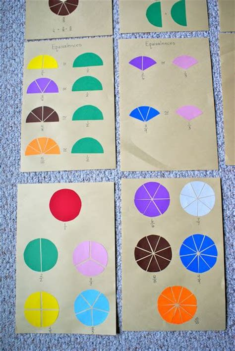 montessori fraction what did we do all day fraction charts montessori math