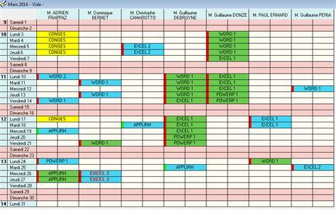 Modã Le Plan D Excel Gratuit Modele Planning Formation