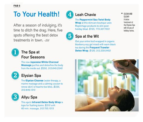 Detox Chicago by Cs Magazine S List Of The Top 5 Detox Treatments In