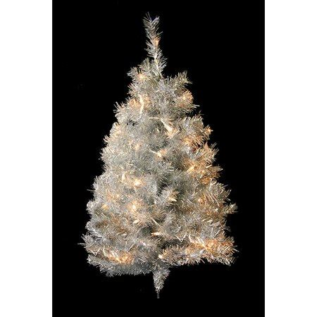 walnart 4 ft pre lit rose tinsel christmas tree northlight 3 ft pre lit silver tinsel artificial wall tree clear lights walmart
