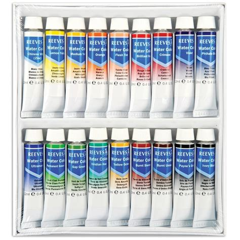 Terlaris Reeves Watercolor Paint Set 24 Pcs water colours set 18 x 12ml reeves from