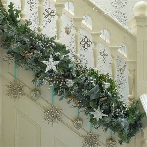 christmas garland on banister so i might have yelled at some christmas garland decor