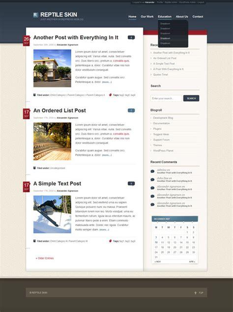 wordpress archive layout share 73 blog designs justin 博客园