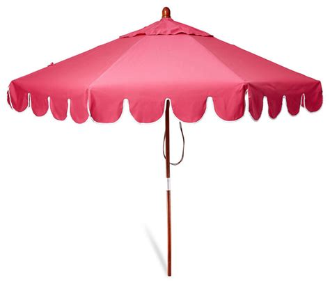 Pink Patio Umbrella Scallop Edge Patio Umbrella Pink Contemporary Outdoor Umbrellas By One