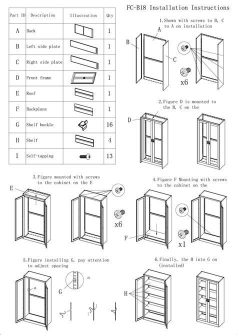 Drug Storage Iron Cupboard 2 Door Swing Glass Door Filing