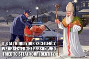St Nicholas Meme - santa claus versus st nick
