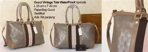 Tas Wanita Import Bag Gucci Supermirror Quality annisa farrel collections gucci vintage tote waterproof apricote