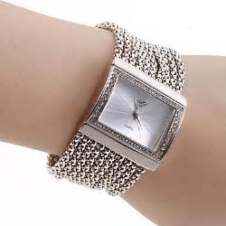 Women s pc movement silver band white dial bracelet watch with czechic