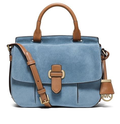 light blue michael kors bag michael kors romy light blue messenger bag on sale 26
