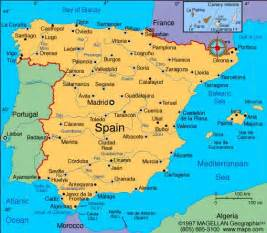 Spain Map Europe by Spain Location Map