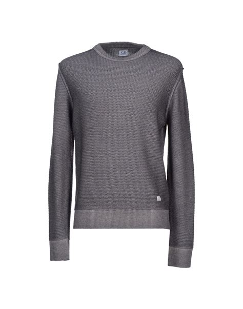 Sweater Cp 68 c p company gray jumper for lyst