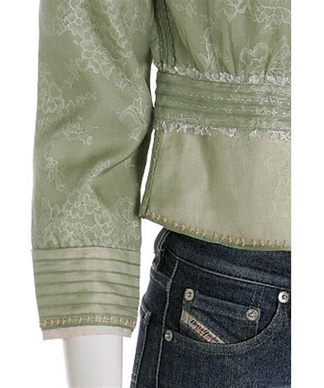 Jny Co Sweater Banana Sweet Opika elie tahari lichen green lace silk organza peplum