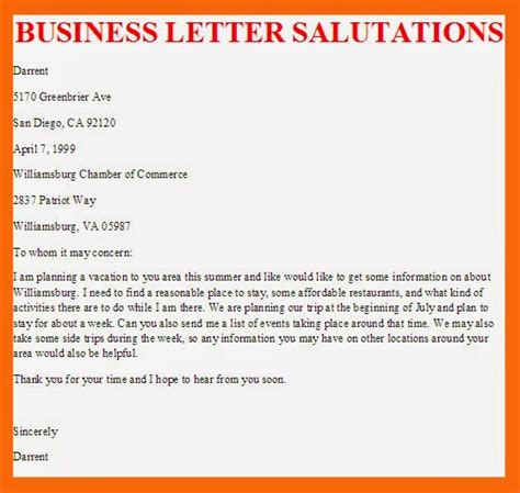 Letter Salutation business letter business letter salutations