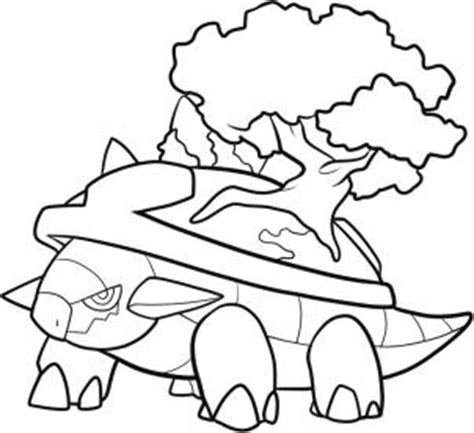 Pokemon Coloring Pages Torterra | how to draw torterra hellokids com