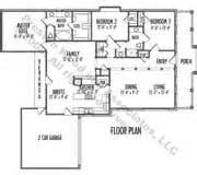 one storey residential floor plan one story house plan c9022