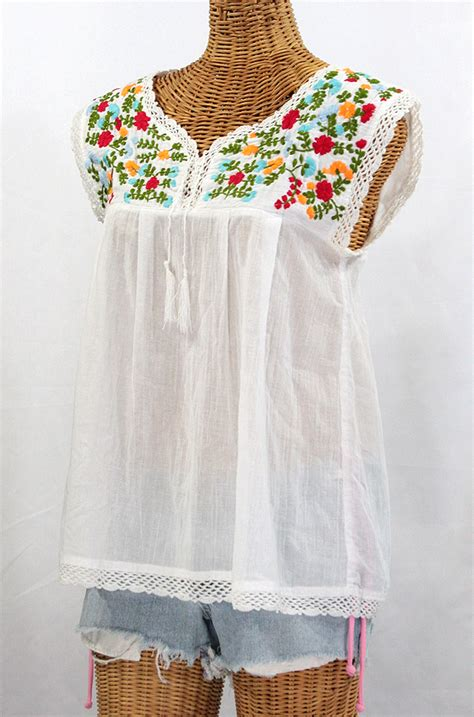 quot la marbrisa quot embroidered mexican sleeveless peasant