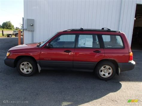 red subaru forester 2000 2000 canyon red pearl subaru forester 2 5 l 83991315