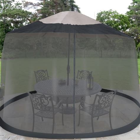 outdoor umbrella table screen netting 7 5 ft mosquito