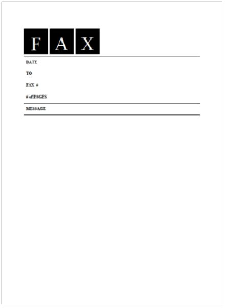 6 Fax Cover Sheet Templates Excel Pdf Formats Fax Cover Template Microsoft Word