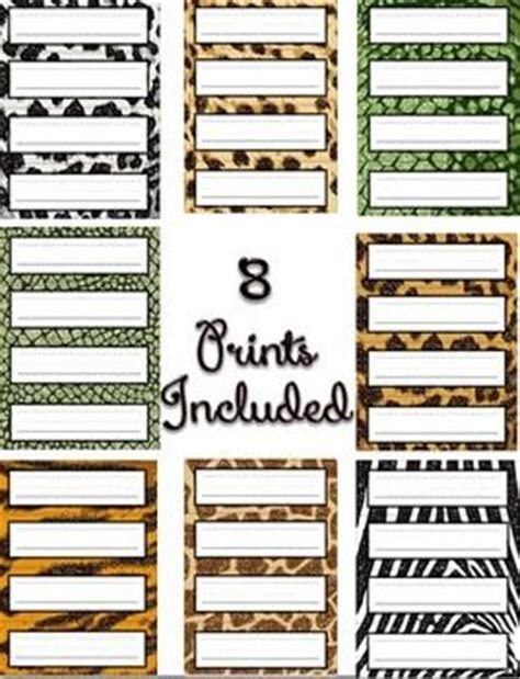 printable animal name plates 235 best images about jungle safari theme preschool on