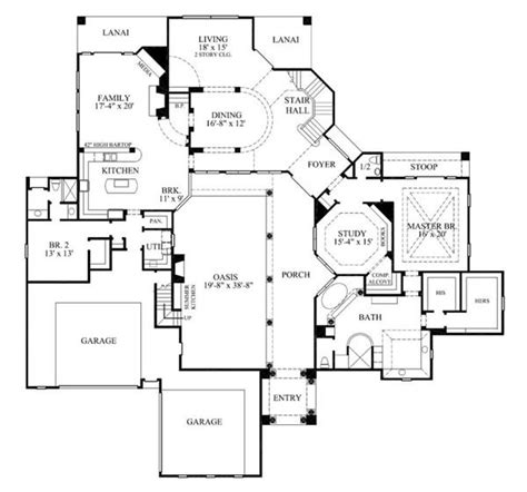 Mediterranean Spanish House Plans Home Design Gmld 552 2 Story House Plans With Interior Courtyard