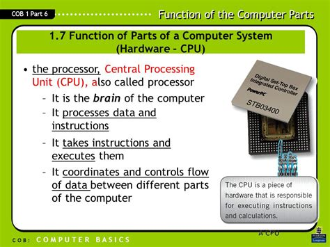 computer ram function 1 6 inside the system unit hardware ppt